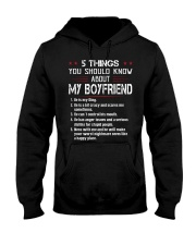 5 THINGS YOU SHOULD KNOW MY BOYFRIEND Hooded Sweatshirt front