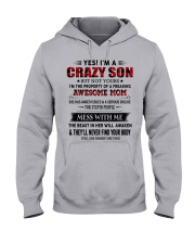 TO SON FROM AWESOME MOM Hooded Sweatshirt front