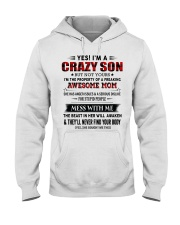 TO SON FROM AWESOME MOM Hooded Sweatshirt tile