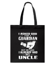 Guardian Is My Uncle  Tote Bag thumbnail