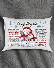 MY HEART - LOVELY GIFT FOR DAUGHTER Rectangular Pillowcase aos-pillow-rectangle-front-lifestyle-1