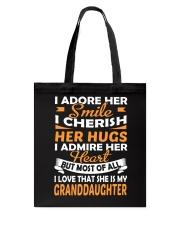 I Love My Granddaughter Tote Bag thumbnail