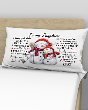 YOU'LL FEEL MY LOVE - SPECIAL GIFT FOR DAUGHTER Rectangular Pillowcase aos-pillow-rectangular-front-lifestyle-02