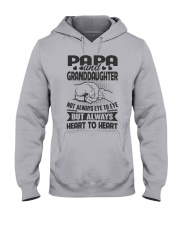 Papa And Granddaughter Always Heart To Heart Hooded Sweatshirt thumbnail