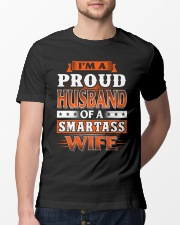 Proud Husband Of A Smartass Wife Classic T-Shirt lifestyle-mens-crewneck-front-13