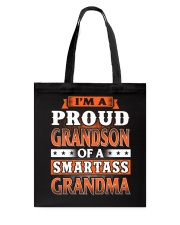 Proud Grandson Of A Smartass Grandma Tote Bag tile