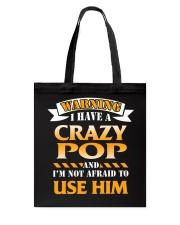 Warning Crazy Pop Tote Bag thumbnail