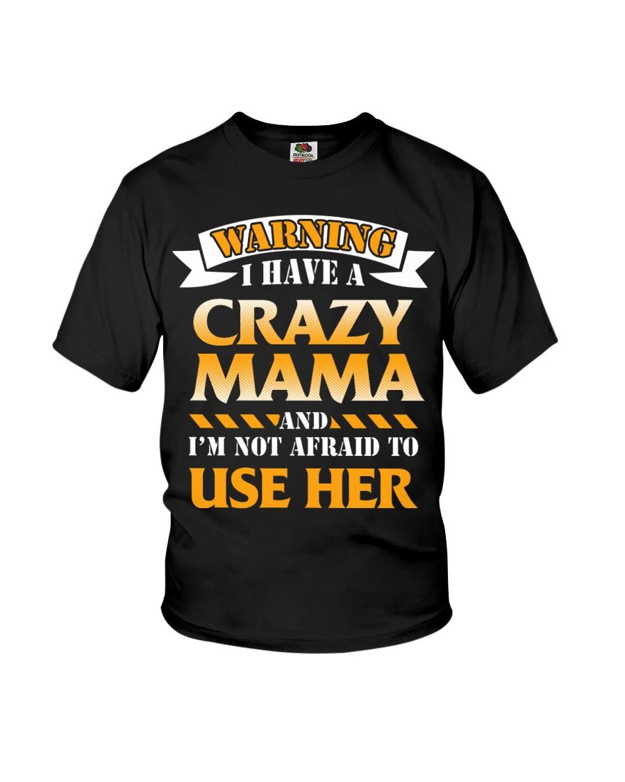 Warning Crazy Mama Youth T-Shirt