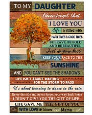 I LOVE YOU - BEST GIFT FOR DAUGHTER FROM MAMA 11x17 Poster front