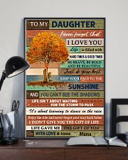 I LOVE YOU - BEST GIFT FOR DAUGHTER FROM MAMA 11x17 Poster lifestyle-poster-2