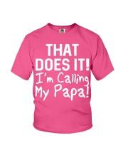 Calling Papa Youth T-Shirt front