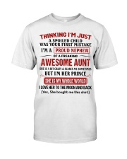 I'M A PROUD NEPHEW OF A FREAKING AWESOME AUNT Classic T-Shirt thumbnail