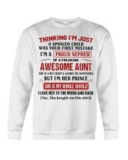 I'M A PROUD NEPHEW OF A FREAKING AWESOME AUNT Crewneck Sweatshirt thumbnail