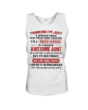I'M A PROUD NEPHEW OF A FREAKING AWESOME AUNT Unisex Tank thumbnail
