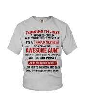 I'M A PROUD NEPHEW OF A FREAKING AWESOME AUNT Youth T-Shirt front