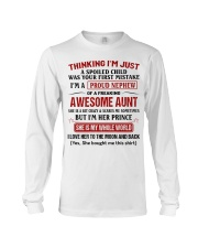 I'M A PROUD NEPHEW OF A FREAKING AWESOME AUNT Long Sleeve Tee thumbnail