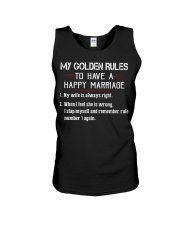 MY GOLDEN RULES TO HAVE A HAPPY MARRIAGE Unisex Tank thumbnail