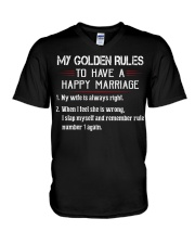 MY GOLDEN RULES TO HAVE A HAPPY MARRIAGE V-Neck T-Shirt thumbnail