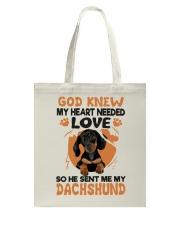 GOD SENT ME MY DACHSHUND Tote Bag thumbnail