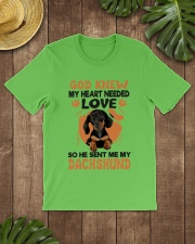 GOD SENT ME MY DACHSHUND Classic T-Shirt lifestyle-mens-crewneck-front-18