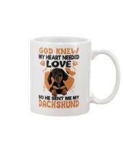 GOD SENT ME MY DACHSHUND Mug thumbnail
