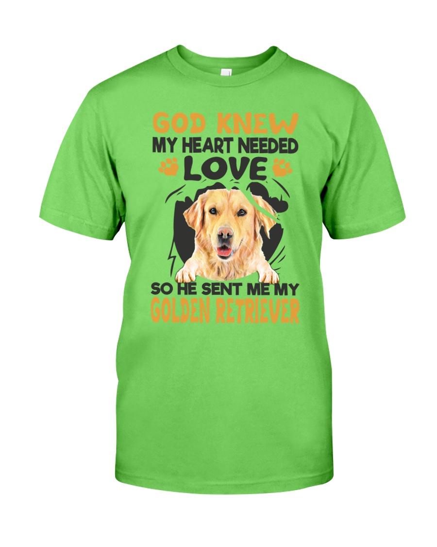 GOD SENT ME MY GOLDEN RETRIEVER Classic T-Shirt