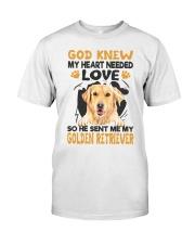 GOD SENT ME MY GOLDEN RETRIEVER Classic T-Shirt front