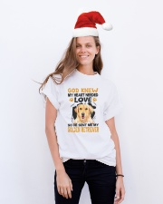 GOD SENT ME MY GOLDEN RETRIEVER Classic T-Shirt lifestyle-holiday-crewneck-front-1