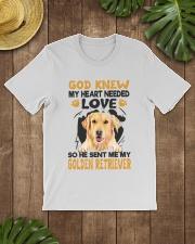 GOD SENT ME MY GOLDEN RETRIEVER Classic T-Shirt lifestyle-mens-crewneck-front-18