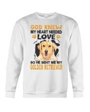 GOD SENT ME MY GOLDEN RETRIEVER Crewneck Sweatshirt thumbnail