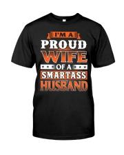 Proud Wife Of A Smartass Husband Premium Fit Mens Tee thumbnail
