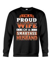 Proud Wife Of A Smartass Husband Crewneck Sweatshirt thumbnail