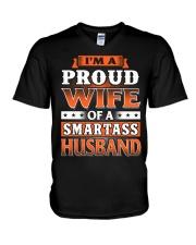 Proud Wife Of A Smartass Husband V-Neck T-Shirt thumbnail