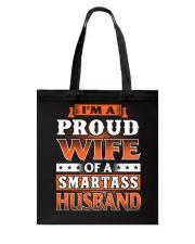 Proud Wife Of A Smartass Husband Tote Bag thumbnail
