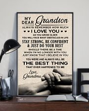 I LOVE YOU - SPECIAL GIFT FOR GRANDSON 11x17 Poster lifestyle-poster-2
