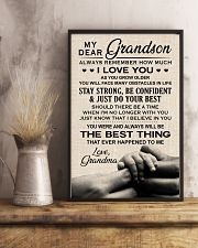 I LOVE YOU - SPECIAL GIFT FOR GRANDSON 11x17 Poster lifestyle-poster-3