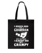 Guardian Is My Grampy  Tote Bag thumbnail