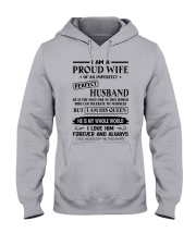 I AM A PROUD WIFE OF AN IMPERFECT PERFECT HUSBAND Hooded Sweatshirt front