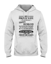 I AM A PROUD WIFE OF AN IMPERFECT PERFECT HUSBAND Hooded Sweatshirt tile