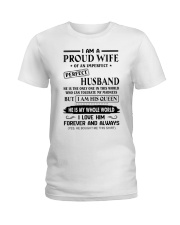 I AM A PROUD WIFE OF AN IMPERFECT PERFECT HUSBAND Ladies T-Shirt thumbnail