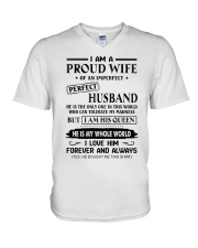 I AM A PROUD WIFE OF AN IMPERFECT PERFECT HUSBAND V-Neck T-Shirt thumbnail
