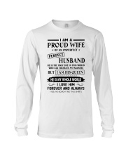 I AM A PROUD WIFE OF AN IMPERFECT PERFECT HUSBAND Long Sleeve Tee thumbnail