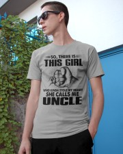 WHO KINDA STOLE MY HEART - PERFECT GIFT FOR UNCLE Classic T-Shirt apparel-classic-tshirt-lifestyle-17