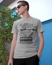 YES I'M A STUBBORN SON Classic T-Shirt apparel-classic-tshirt-lifestyle-17