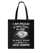 BEING A GREAT GRANDMA Tote Bag thumbnail