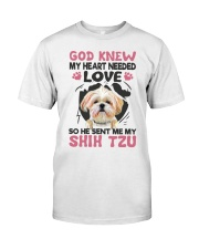 GOD SENT ME MY SHIH TZU Classic T-Shirt tile