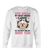 GOD SENT ME MY SHIH TZU Crewneck Sweatshirt thumbnail