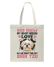 GOD SENT ME MY SHIH TZU Tote Bag thumbnail