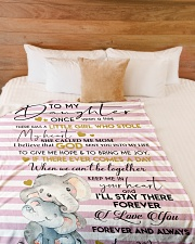 """I LOVE YOU - TO DAUGHTER FROM MOM Large Fleece Blanket - 60"""" x 80"""" aos-coral-fleece-blanket-60x80-lifestyle-front-02"""