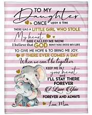 """I LOVE YOU - TO DAUGHTER FROM MOM Large Fleece Blanket - 60"""" x 80"""" front"""
